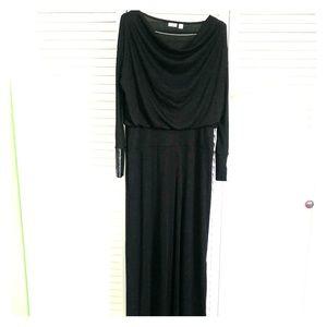 Women's Dress TALL Large Long Elegant Black Comfy